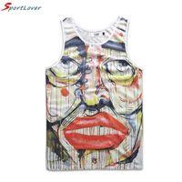 Wholesale Offbeat Wholesale - Wholesale- Sportlover Men's Joker Flower Print Tank Tops Offbeat Personality Mesh Vest Undershirt Camiseta Tirantes Hombre