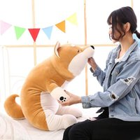 Wholesale Giant Stuff Dog Toys - The latest 100cm Giant Lying Animal Akita Plush Toy Pillow Stuffed Cartoon Anime Shiba Inu Dog Doll 39inches Gift