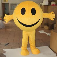Wholesale Happy Faces - 2017 hot sale happy face soybean yellow soya beans mascot costumes for adults for sale