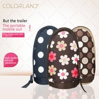 Wholesale Carrying Babies - Print Mummy Thermal Feeding Milk Bottle Bag Baby Thermos Bottle Insulation Handbags Carry Cup Travel Zipper Storage