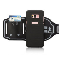 Wholesale Function Exercises - new multi-function mountain Sports exercise wallet card armband case cover skin shell for Samsung Galaxy S8 and S8 Plus