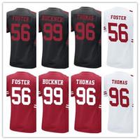 Wholesale Solomon Women - Women #90 Solomon Thomas #56 Reuben Foster #99 DeForest Buckner Shirt Best Quality Girl Child Black Red White Jerseys Accept Mix Orderx