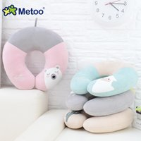 Wholesale Neck Cushions For Children - Metoo U Pillow Nap Neck Cushion Plush Stuffed PIollows Animal Cartoon Kids Toys for Girls Children Baby Birthday Christmas Metoo Doll
