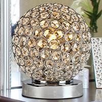 lampes pour bureau achat en gros de-Lampes de table en cristal modernes pour la chambre à coucher, salon, étude, bureau moderne en verre cristal lampe de bureau livraison gratuite