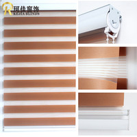 Wholesale Polyester Translucent Customerized Size Zebra Blinds In White Colors Window Shade Curtains For Living Room