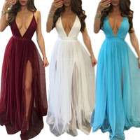 Night Out & Club black belt levels - dresses woman sexy Chiffon split level plus size Sleeveless backless deep v Condole belt dress Clubwear Ladies Party Dresses white red blue