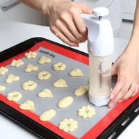 Wholesale Make Cake Decorating - Cookie Extruder Press Machine Biscuit Maker Cake Making Decorating Gun Kitchen Tools Set