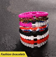Wholesale Gel Bead Bracelet - New 9 colors fashion Bracelets Silica gel beads bracelet Mud from Dead Sea, Fitness series dumbbell hand ring Silicone size S M L C025