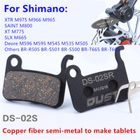 Wholesale Bicycle Parts Accessories - wholesale New Design Bicycle Disc Brake Pads Semimetal Bike Cycling Parts Accessories for M775 M595 M596 M965 M665
