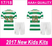 Wholesale New Arrival Boys Shorts - Kids Kits New Arrival BROWN Celtics home Soccer jersey 2018 DEMNELE COMMONS LUSTIG TOSHNEY Kids Kits AAA+ quaily Football kits
