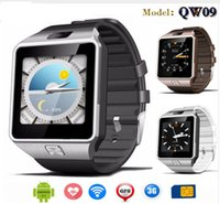 QW09 Android 3g Smart Watch Bluetooth 4.0 Reloj MTK6572 Dual Core 512MB 4GB Podómetro 3G Smartwatch Teléfono VS DZ09
