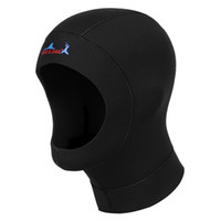 Wholesale Dropshipping Hats - Wholesale Dropshipping Hot 3mm Neoprene Scuba Diving Hat Scuba Diving Wetsuit Hood Divers Cap Black Thermal