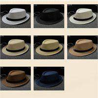 sombrero de paja al por mayor-Barato Vogue Hombres Mujeres Sombrero Niños  Niños Sombreros de 561fa2f89fd
