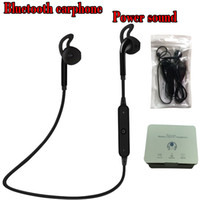 Wholesale Iphone White Earbuds - Bluetooth Headphones Headset Sports Wireless S6 s9 Stereo Neckband Universal Running Phone Earphone With Retail Package Earbuds Power Sound