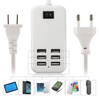 Wholesale usb port receiver for sale - Group buy For iPhone Samsung LG Universal iPhone Port USB Charger Travel Desktop Power Charging Adapter with Retail Box