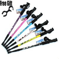 """Wholesale Walking Sticks 26 - 6 color Adjustable AntiShock Trekking Hiking Walking Stick Pole 3-section 66cm-135cm  26 """" to 53 """" with Dropshipping 1pc"""