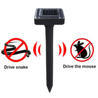 Wholesale Mouse Drive - Solar Energy Snake Repeller Pest Repellent Device Ultrasonic Pest Repeller solar charging device drive snakes hazardous products