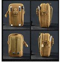 Wholesale Travel Belt Box - Men Tactical Molle Pouch Belt Waist Pack Bag Small Pocket Military Waist Pack Running Pouch Travel Camping Bags Soft back