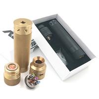Wholesale Gold Battle - Vaporizer Complyfe HK Knurled Kit Come with Complyfe HK Knurled Mod Battle RDA fit 18650 battery Electronic Cigarette DHL Free