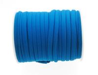 нейлоновые нити оптовых-Синий 5 мм 20 метров сшитый нейлоновый шнур Lycra, мягкий и толстый шнур, эластичная нейлоновая строка Lycra, эластичный шнур