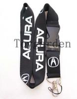 Wholesale acura cars logo - Wholesale 10pcs Acura black Car logo Removable Mobile phone lanyards id badge holder K041