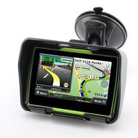 Wholesale car gps online - Hot Inch Motorcycle GPS Car Gps Navigation IPX7 Waterproof GB Internal Memroy for Motorcycle Maps of Most Countries