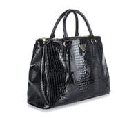 Wholesale Evening Bags Rose - New women Alligator single shoulder handbag lady popular evening bag black rose red purple color no133