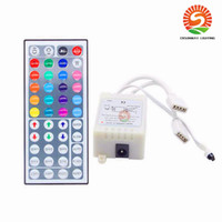 Wholesale Dimmer Bulb Remote - New 24Keys 44keys IR Remote Controller RGB LED Dimmer 12V 6A 2 port For 5050 3528SMD LED Strip RGB Bulb Light Mini-RGB Controller