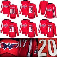 Wholesale Lars Eller Jersey - 2017-18 New Season Washington Capitals Jersey 16 John Albert 17 Chris Bourque 18 Chandler Stephenson 20 Lars Eller Custom Hockey Jerseys