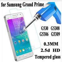 Wholesale Screen Protector Grand Retail Package - Premium Tempered Glass Screen Protector for Samsung Galaxy Grand Prime G530 G531 G5308 Toughened Protective Film With Retail Package