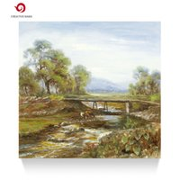 Wholesale creative baba Hand painted classical landscape oil painting living room office decorations