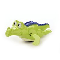 Atacado- 1 PC Baby Bath Natação Toy Crocodile Wind Up Clockwork Jogue Swimming Alligator for Kid Brinquedos Educativos Presente de crocodilo infantil