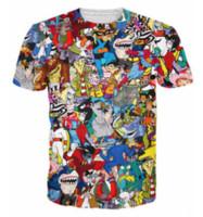 camiseta dos homens unisex venda por atacado-Mais recente Moda Mens / Womans Extremo 90 s Dos Desenhos Animados Colagem T-Shirt Estilo Verão Engraçado Unisex 3D Impressão Casual T-Shirt AA280