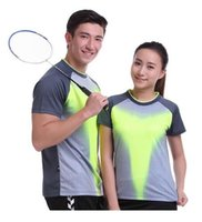 Wholesale Butterfly Badminton Clothes - 2017 Sportswear Quick Dry Breathable Badminton Shirt, Women's   Table Tennis Clothing Patchwork Men's Short Sleeve Game Team T Shirts