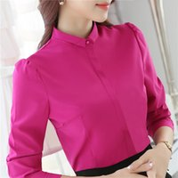 Wholesale Korean Office Wear - YIMOSI Autumn Women Blouse OL Shirts 2017 Korean Style Long Sleeve Lady Shirt Office Tops Female Work Wear Slim Blusas