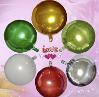 Wholesale Happy Balls - New 18 inch Foil Balloon Party Inflatable Balls Silver Wedding Decoration Happy Birthday Inflatable Toys Air Balloons