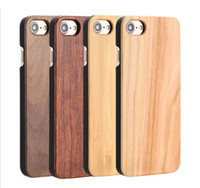 Wholesale Hard Wood Back Cover Case - Brand New Phone Case Wooden For Iphone 6 6s 7 plus Bamboo Wood With PC Hard Back Cover For Samsung S6 S7 edge S8 Plus Free DHL