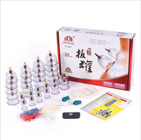 Wholesale Cheap Fatigues - Cheap 32 Pieces Cans Cups Chinese Vacuum Cupping Kit Pull Out A Vacuum Apparatus Therapy Relax Massagers Curve Suction Pumps
