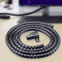 spiral wrap black - 10pcs PE Cable and Wire Spiral Tidy Wrap with Clip Organizer Black cm