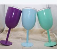 ingrosso bicchieri di vino rosso-Wine Glasses 9 colori 10oz Stainless Steel Calice vuoto della tazza del doppio strato termo tazze Bicchieri Bicchieri Vino Rosso