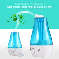 Atacado- 25W Tabletop 3L Water Bottle Mini Home Ultrasonic Humidifier Purifier com lâmpada LED Air Freshener Diffuser support wholesale