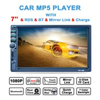 Wholesale rds car stereo - 7 Inch 2 DIN In Dash HD Touch Screen Car Video Stereo Player Bluetooth AM FM RDS Radio Support Mirror Link Aux In Rear View Camera CMO_22E