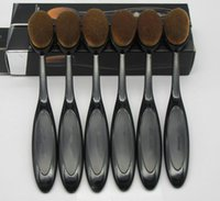 Wholesale Free Power Tools - Oval Brush Makeup Brushes Toothbrush Foundation Brush Cream Puff Brush Power Makeup Beauty Cosmetic Foundation Blend Tools DHL Free