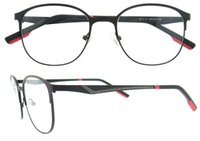 Wholesale Spectacle Frames Lady - 2017 New Arrival Brand Quality Metal Round Glasses Frames Clear Lens Fashion Lady Men Myopia Eyeglasses Frame Optical Spectacles 8111