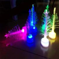 Wholesale Fiber Christmas Trees - Fiber Christmas tree Colorful LED Christmas tree Party three-dimensional Christmas decoration gifts LED tree