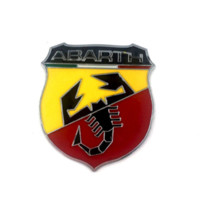 3D 3M Car Abarth Metal Adhesive Badge Логотип эмблемы Decal Scorpion для всех Fiat Abarth Punto 124/125/125/500 Автомобиль Styling