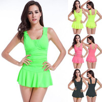 Wholesale Hot Sexy One Piece Girls - Sexy Women Skirt Siamese Swimwear Cover Belly Thin Close The Crowd Hot Spring Girl Swimming Duit Conservative VS013