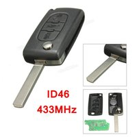 Wholesale Citroen Berlingo - 3 Buttons Without slot With ID46 Chip No Standard Battery holder 433mhz Remote Key For PEUGEOT for CITROEN for BERLINGO AUP_404