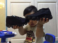 Wholesale knitted baby boy shoes - new baby children boys girls vapormax 2 runner kids running Shoes black white pink vapormaxes trainers knitting Air cushion shoes sneakers