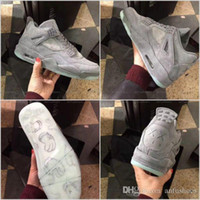 Wholesale Light Glow Balls - 2017 Retro 4 IV Kaws x Cool Grey Glow In The Dark Mens Basketball Shoes High Quality Limited Edition Retros 4s Basket Ball Shoes Sneakers